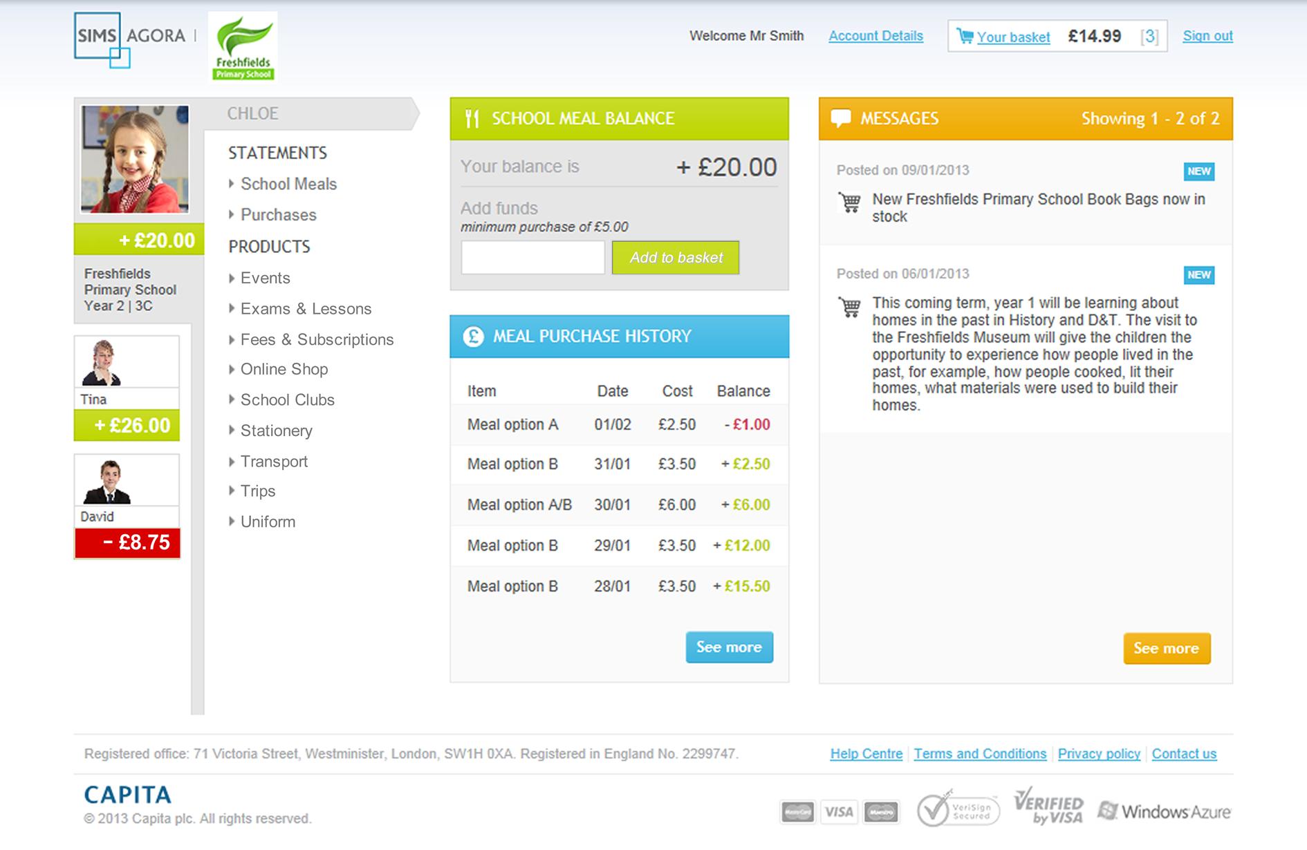 Agora Homepage