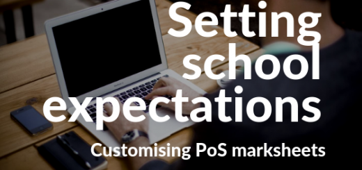 School expectations blog header