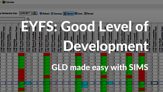 Calculating EYFS Good Level of Development