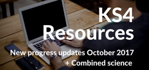 KS4 Resources October 2017 Update