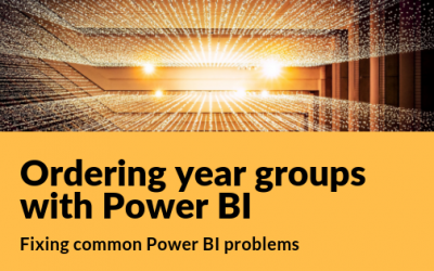 Ordering year groups with Power BI
