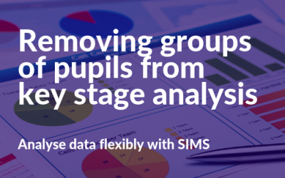 Removing groups of pupils from key stage analysis