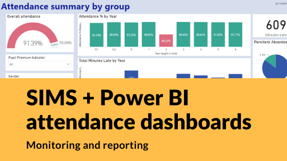 Power BI Dashboard attendance